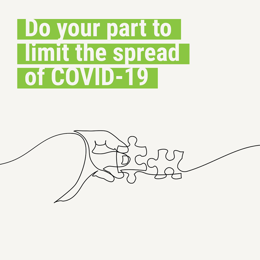 Do your part to limit the spread of COVID-19