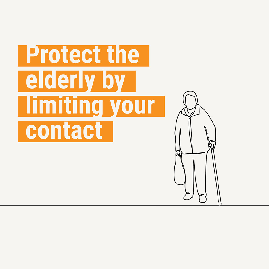 Protect the elderly by limiting your contact
